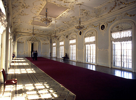 The theatre and hall decoration is unique and represents a classical